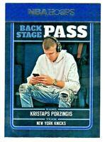 2017-18 Panini NBA Hoops BACK STAGE PASS #9 KRISTAPS PORZINGIS Dallas Mavericks