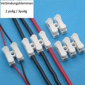 A25 / Lüsterklemmen-Verbindungsklemmen-Steckklemmen 2-3 polig 2/5/10 Stück