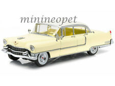 GREENLIGHT 12937 1955 CADILLAC FLEETWOOD SERIES 60 1/18 YELLOW with WHITE ROOF