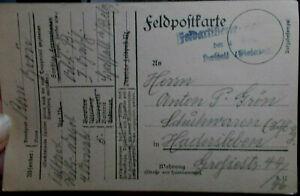 Feldpostkarte 24.9.1917 nach Hadersleben