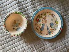 Beatrix Potter Peter Rabbit Bamboo Kid's Plate and Bowl