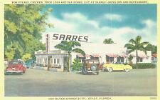 Vintage Postcard-Sarres'-Drive int. Ocala, FL