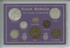 More details for 1902-1910 gb coinage of king edward vii type coin collection collector gift set