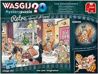 Jumbo Retro Wasgij Mystery 4 Live Entertainment January Jigsaw Puzzle 1000 Piece