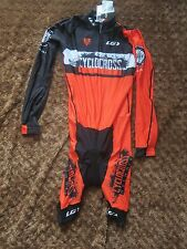 New w/tags Garneau Cyclocross Network Racing Men's LS Skinsuit TT Power Skin L
