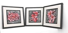 3 Different wall frame flowers  / Resin / 3D / Home decorative