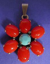 Ovale Modeschmuck-Halsketten & -Anhänger mit floralen Themen