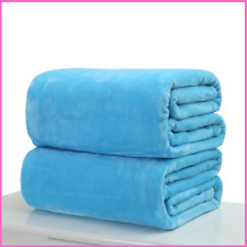 Blanket Small Super Warm Solid Flannel Micro Plush Fleece Throw Rug Sofa Bedding