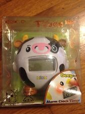 OIKO COW TOUCH ME ALARM CLOCK w/ TIMER & SNOOZE