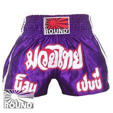 Short Boxe Thaïlandaise Muay Thai Kick Boxing K1 polyester Extra Round