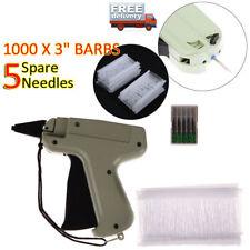 Clothing Tagging Tag Gun+ 6000 Tag Barbs 5 Needles Garment Price Label Clothes