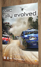 WRC Rally Evolved very rare  Promo Poster 59x42cm Playstation 2