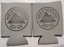 Lot of 2 COORS LIGHT BEER CAN COOLER COOZIE COOLIE KOOZIE HUGGIE GREY