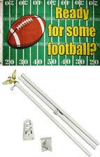 3x5 Advertising Ready For Some Football Flag White Pole Kit Set 3'x5'