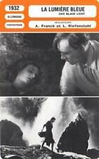FICHE CINEMA : LA LUMIERE BLEUE - Riefenstahl,Wieman 1932 The Blue Light