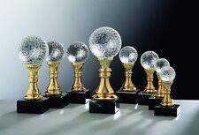 5 Pokale Noblesseglas Glaspokale Golf Serie #1(Turnier Golfplatz Golfball Pokal)