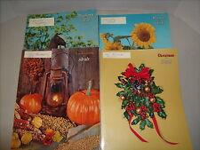 Vintage Ideals Magazine 1966-Lot of 4 Neighborly, Rural, Thanksgiving, Christmas