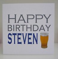 Personalised Mens Birthday Card  - 18th 21st 30th 40th 50th 60th Any Age Dad Son