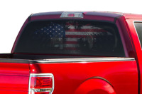 Perforated for Ford F150 Eagle Flag Sport Design Rear Window See Thru Stickers
