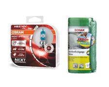 OSRAM HB3 NightBreaker Laser +150% +Sonax Reinigungstücher +Microfasertuch PLUS