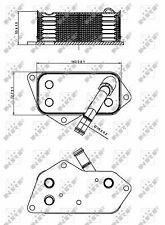 Oil Cooler 31277 NRF Radiator 11427525333 5989070201 Genuine Quality Guaranteed