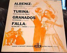 Gaston Poulet  Albeniz Turina Granados De Falla  MGM E3073 DG LP VG+ rare