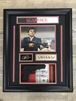"Framed Scarface Shadowbox w/ Replica Gun, Cigar, Hundreds. ""Say Hello To My..."""