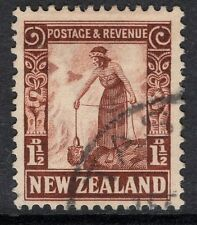 NEW ZEALAND SG558 1935 1½d RED-BROWN FINE USED