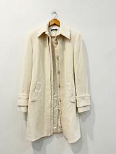 Designer Boss Hugo Boss Size 10 AU White Wool & Alpaca Blend Women's Coat