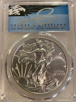 2021 Silver Eagle PCGS MS70 T1 FDOI signed by T. S. Cleveland