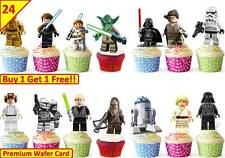 48 X STAR WARS Edible Cup Cake Toppers Premium Wafer Birthday Party STAND UP 5cm