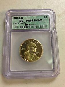 2001-S SACAGAWEA $1 COIN ICG-PR69 DCAM
