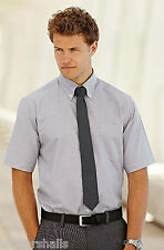 FRUIT OF THE LOOM MENS SHORT SLEEVE OXFORD BUSINESS WORK SHIRT - SS401