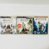 ASSASSINS CREED 1 3 III & Brotherhood Game Bundle - PlayStation 3 PS3