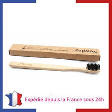Brosse à Dents Bambou avec Poils Infusés Charbon 100% Biodégradable Blanchiment