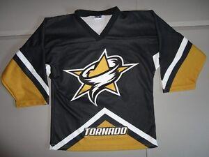 Vtg New w/o tags SEWN Texas Tornado Minor League Hockey NAHL Youth M Jersey nhl