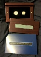 2011 ONE & TWO CENT FINE SILVER PROOF SET - ROYAL AUSTRALIA MINT - PURE SILVER