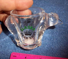 Alaska Shotglass BEAR SHOT with cool molded Grizzly Bear going thru the glass!