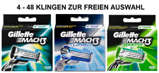 Gillette Mach 3 Turbo Sensitive Auswahl an Klingen 4 8 12 16 20 24 32 36 40 48