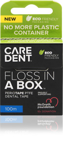 CareDent Floss In a Box Periotape Dental Floss 6 Packets of x 100m