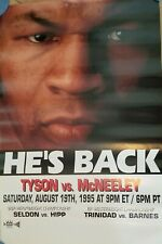 Mike Tyson vs Peter McNeeley poster HE'S BACK 1st fight out of prison