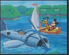 Palau #343 S/S (1994) Disney Characters Visit/Mickey & Pluto/Plane/Cartoons