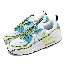 Nike Air Max 90 SE Worldwide White Blue Fury Volt Black Men Shoes CZ6419-100