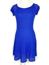 Victoria's Secret S Small Royal Blue Lace Babydoll Dress Short Sleeve Fit Flare