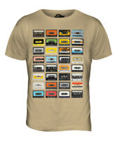 RETRO CASSETTE TAPES MENS FASHION PRINT T-SHIRT TOP VINTAGE MUSIC 70S 80S 90S