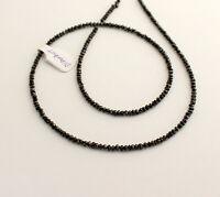 Diamant Kette Edelsteinkette Schwarze Facettierte Top Qualität Collier Edel 46cm