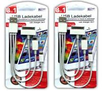 2x 3in1 Universal Handy Ladekabel | Micro USB Ladekabel | Iphone Ipad Ladekabel