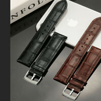 Universal Quick Release Crocodile Pattern Leather 22mm 20mm Watch Band Strap