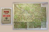 Pharus-PLan Dresden 1903 Landkarte Stadtplan 1:125.000 Sachsen Saxonica xz