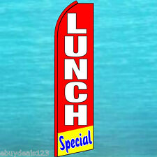 LUNCH SPECIAL Red FLUTTER FEATHER FLAG Swooper Tall Advertising Sign Banner 1456